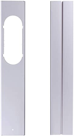 LuMon Ajustable Ventana Kit Placa, Escape Manguera Tubo Conector para Portátil Aire Acondicionado - 2 Piezas: Amazon.es: Hogar