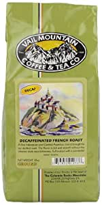 Vail Mountain Coffee & Tea Decafeinated French Roast Ground Coffee, 10-Ounce Bags (Pack of 3)