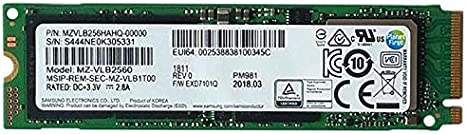 Samsung PM981 - Memoria SSD de 256 GB, Color Negro: Amazon ...