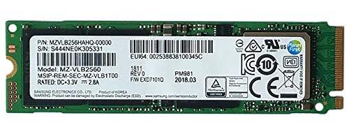 Samsung PM981 Polaris 256GB M.2 NGFF PCIe Gen3 x 4, NVME Solid state drive SSD, OEM (2280) MZVLB256HAHQ-00000