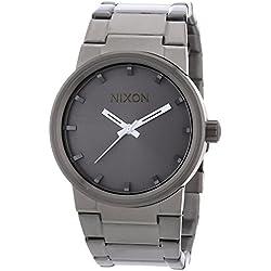 Nixon Men's A160-632 Cannon Analog Miyota Japanese Quartz 3 Hand Gunmetal Watch