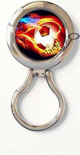 BlackKey Soccer Ball Theme Magnetic Metal Eyeglass Badge Holder, Eye Glass Holding Brooch -481