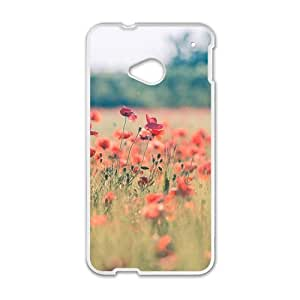 Personalized Creative Cell Phone Case For HTC M7,glam flowers field wangjiang maoyi by lolosakes