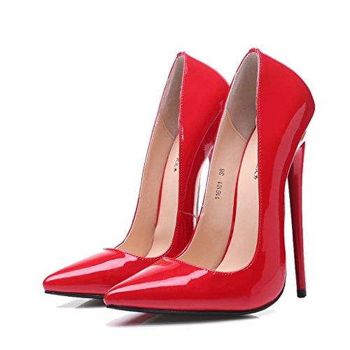 Long240mm Alti Tacchi Dimensioni 16cm rosso Da 38 Fine Punta Donna A Da rosso   2cc03b