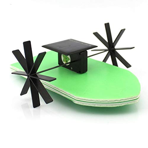 Solar Energy Wheel Paddle Toys Physical Building Blocks Kits Solar Energy Assembled Toy Teaching by Unknown