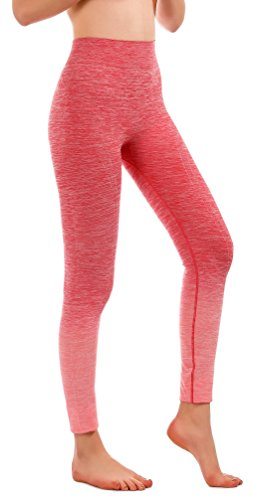 - RUNNING GIRL Ombre Yoga Pants Performance Active Stretch Running Leggings(2015,Rose Red,S/M)