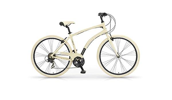 Bicicleta Híbrida MBM Fuoriserie cuadro de aluminio (Crema, 48 ...