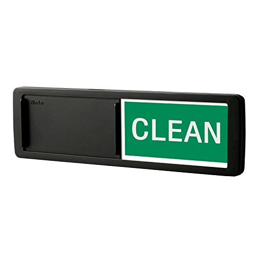 Premium Dishwasher Magnet Clean Dirty Sign, iRush Non-Scratching Backing Rotated Indicator Works for Dishwashers, Reminder Tells Whether Dishes Are Clean or Dirty - Black