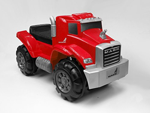 Beyond Infinity Ride On Mack Truck Foot to Floor in Kids Ride On, Red, 26.38 x 12.6 x 15.11