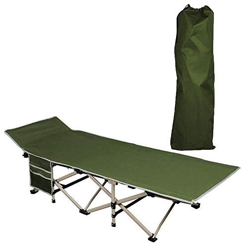 Yaheetech Folding Camping Bed - Foldable Portable Military Cot Canvas Tent Bed Comfortable Sleeping Cot Outdoor/Indoor/Office/Patio Furniture Bed w/Carry Bag 331 Lbs