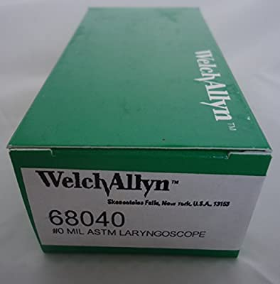 Welch Allyn 68040 #0 Miller Standard (Lamp) Laryngoscope Blade