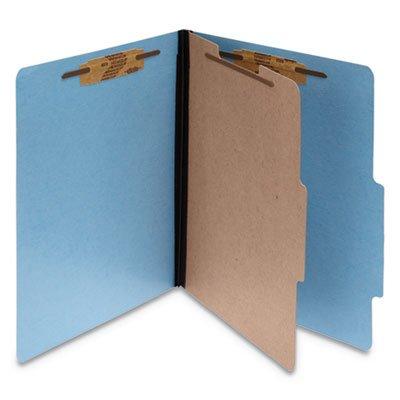 (COLORLIFE PRESSTEX CLASSIFICATION FOLDERS, 1 DIVIDER, LETTER SIZE, LIGHT BLUE, 10/BOX)