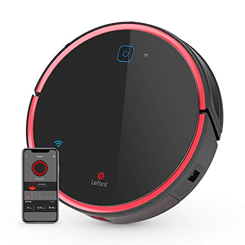 Lefant Robotic Vacuum Cleaner,T700 1800Pa, Super Quiet, Sweeping Mopping Cleaning Robot, Powerful Suction, Self-Charging, Drop Sensing and Anti-Collision Technology, Ideal for Pet Hair and Carpet