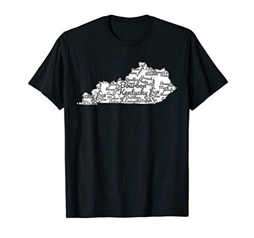 Kentucky T-Shirt I Bourbon Trail Map Gift Shirt I Men Women