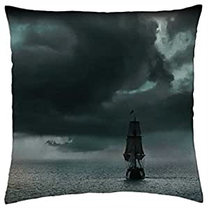 Approaching Storm at Sea - Throw Pillow Cover Case (18