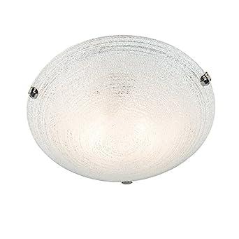 QAZQA Landhaus/Vintage/Rustikal Deckenleuchte/Deckenlampe/Lampe/Leuchte  Curly 40 Weiß