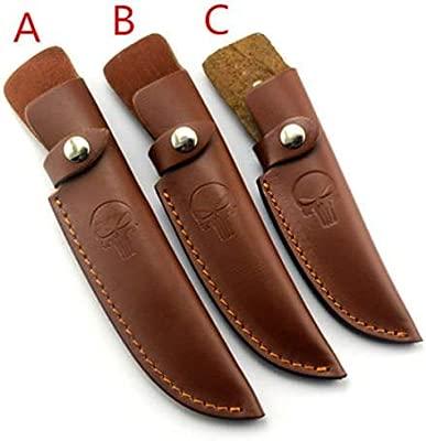 Aibote - Funda para cuchillos de hoja fija con cinturón para caza, cuchillos de transporte, funda de piel, funda para funda, bolsa de bolsillo, ...