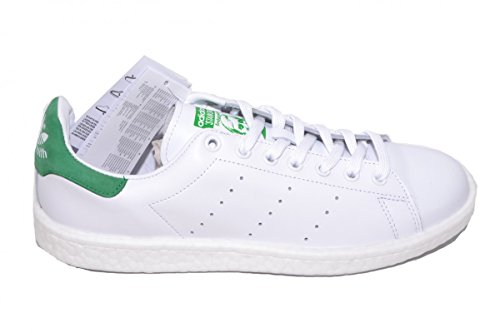 adidas Herren Stan Smith Boost Schuhe White White Green