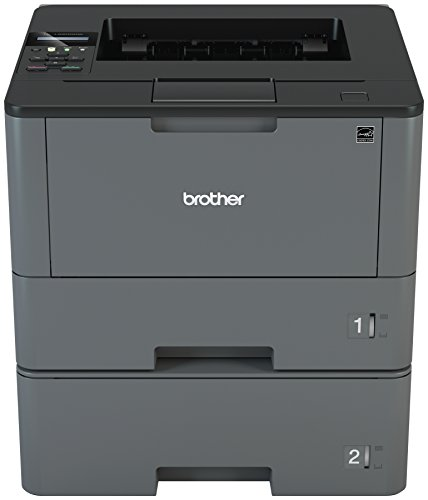Brother Monochrome Laser Printer, HL-L5200DWT, Duplex Printing, Wireless Networking, Dual Paper Trays, Mobile Printing, Amazon Dash Replenishment Enabled
