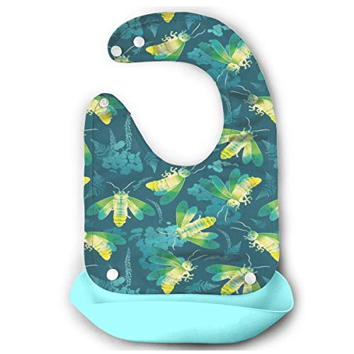 (Fireflies Glowing Nights Baby Comfortable Mouth Bib Saliva Dripping)