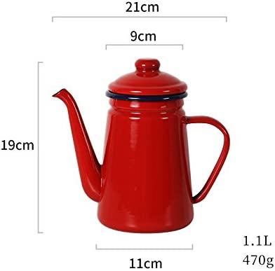 Bezigeorey Esmalte Vintage Cafetera Tetera Hervidor De Agua ...