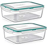 5275e45af8ec Amazon.com: PlastArt Fresh Box Square Set, Multi Piece Food Storage ...