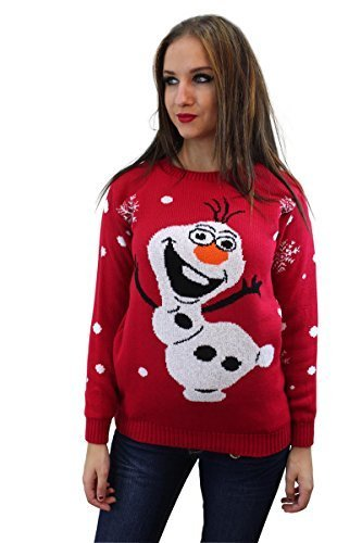 Frozen Olaf Snowman Christmas Jumper
