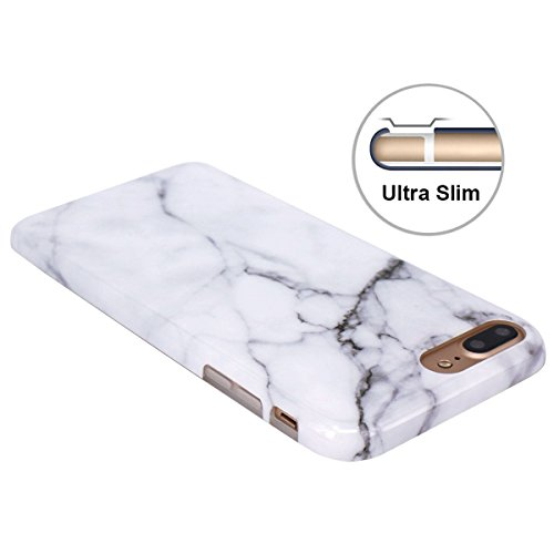 Leton Cover Iphone 7 Plus Marmo Custodia Iphone 8 Plus Bianco