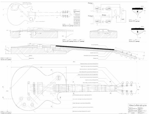 les paul wiring diagrams set of 3 gibson electric guitar plans es 335  cs 356  set of 3 gibson electric guitar plans es 335  cs 356