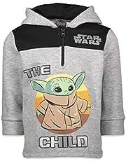 STAR WARS Mandalorian The Child Boys Fleece Half Zip Pullover Hoodie