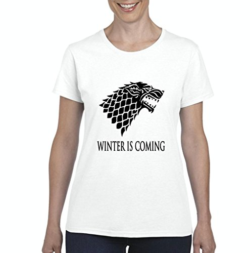 Xekia Winter is Coming Fashion People Clothes Best Friend Gifts Women's T-shirt Tee Clothes Medium White