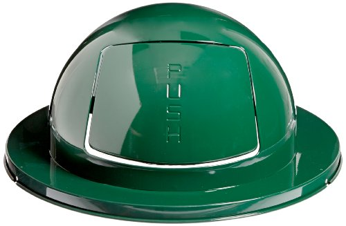 Green Dome Tops - Rubbermaid Commercial FG1855EGN Steel Drum Dome Top, 24-5-inch, Green