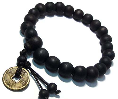 Feng Shui Coin with Tibetan Buddha Prayer Mala