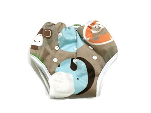 BB2 Adjustable Baby Toddler Potty Toilet Training Reusable Bamboo Pants (Adjustable, Farm (Training Pants Farm)