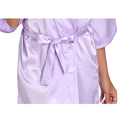 Notte Kimono e e Della Vestaglie Cristallo Pavone Camicie Pigiami WYSMOL da Blu Madre Sposa pP8YYq