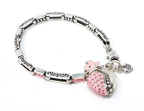 Brighton La Vie En Rose Heart Bracelet Power of Pink Breast Cancer Bracelet,
