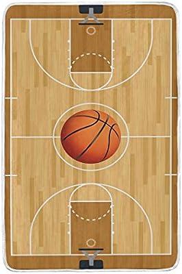 ALAZA corte balón de baloncesto manta suave cálido acogedor cama ...