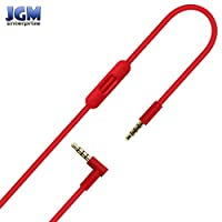 JGM Replacement RemoteTalk Cable Wire Cord For Beats By Dre Solo / Studio / Pro / Executive / Mixr Headphones - Red