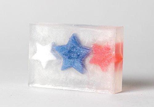 Patriotic Spangled Banner Star All Natural Handmade Gift Glycerin Soap Bar 3 oz