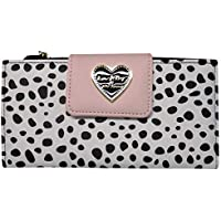 Betsey Johnson Luv Lbace Quilted Flap Bifold Clutch Wallet Purse