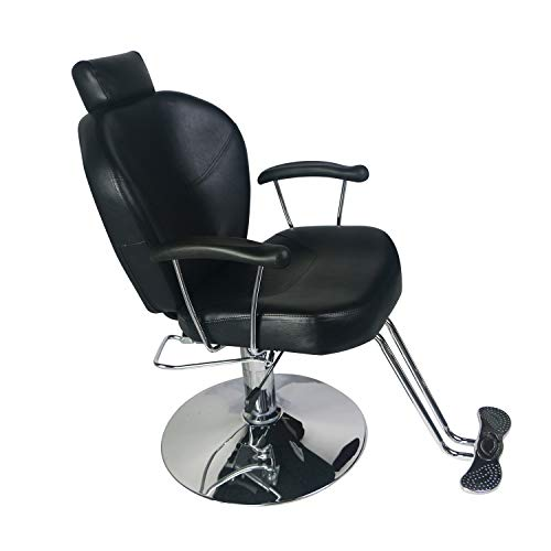 Beauty Salon Chair for Hair Stylist Hydraulic Reclining,Barber Chair Salon Cutting Equipment