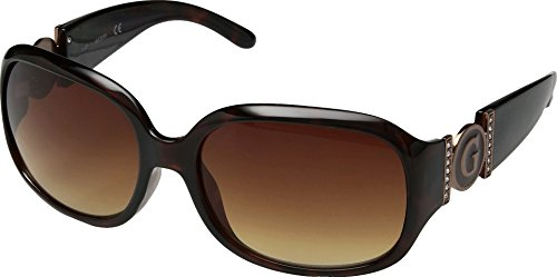 GUESS Womens GU7005F Havana/Brown Gradient Lens One - Guess Protection Sunglasses Uv