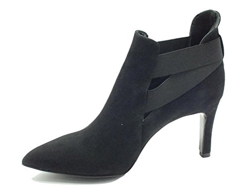 Noir Cafè HEEL ELASTIC SUEDE MM Nero 80 I16 NMD546 DOUBLE 010 ANKLE OZTSZnB
