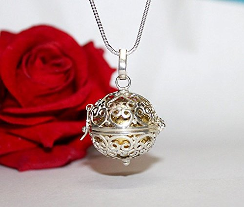 Sterling Silver Bali Harmony Ball, Bola Pregancy Necklace, Harmony Ball Necklace, Angel Caller