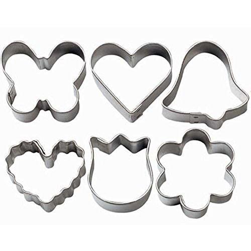 Tulip Heart (Wilton Mini Romantic Metal Cookie Cutter Set)