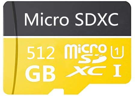512GB Micro SD Card High Speed Class 10 SDXC with Free SD Adapter, Designed for Android Smartphones, Tablets and Other Compatible Devices (512GB-A)