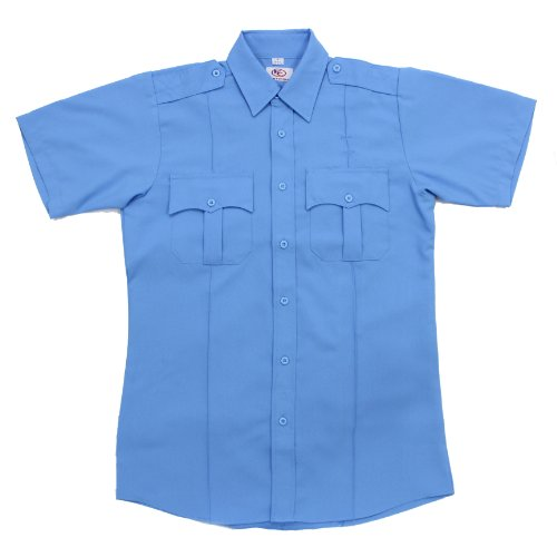 First Class Short-Sleeve Uniform Shirt M Light Blue