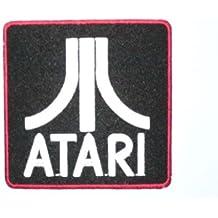 ATARI Logo Iron On Sew On Retro Gamer Embroidered Patch