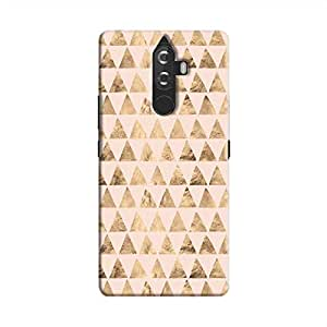 Cover It Up - Brown Pink Triangle Tile K8 Note Hard Case