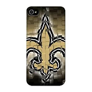 Ideal Gift - Tpu Shockproof/dirt-proof New Orleans Saints Squared Logo Cover Case For Iphone(5/5s) With Design